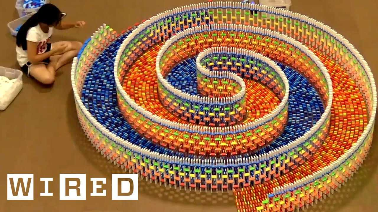 How Hevesh5 Builds Amazing Domino Chain Reactions | WIRED