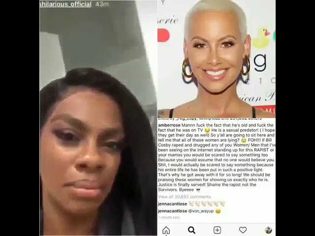 jess Hilarious reacts to Amber Rose Bill Cosby Death wish
