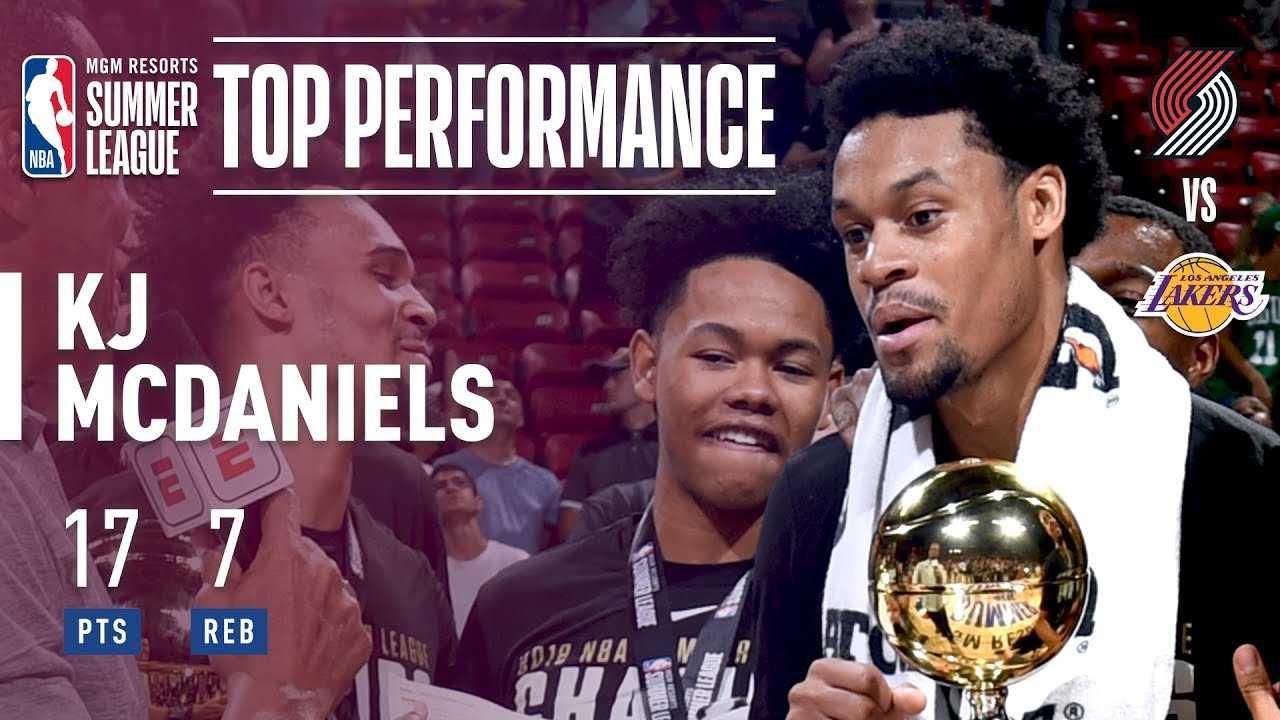 KJ McDaniels Is The 2018 MGM Resorts Summer League Finals MVP
