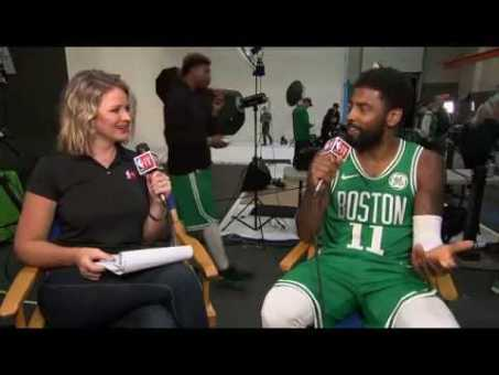 Kyrie Irving Sitdown Interview   NBA Media Day 2018