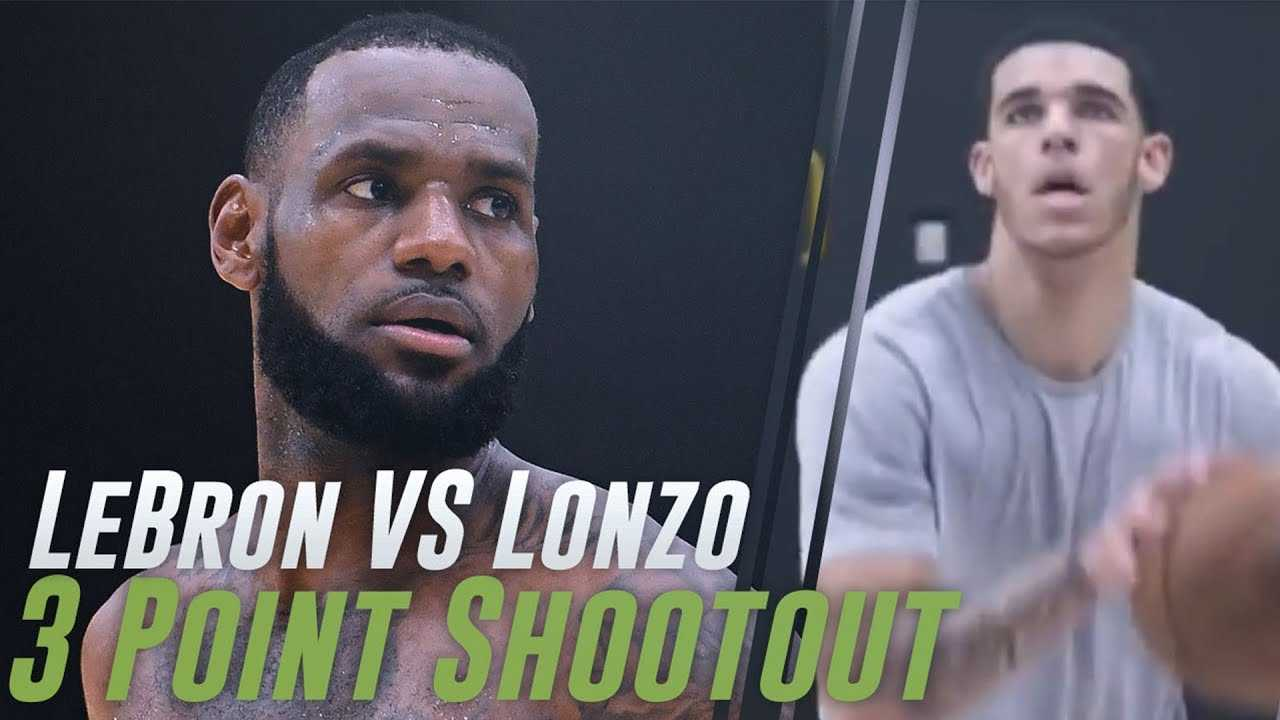 LeBron James & Lonzo Ball Have 3 Point Shooting Contest Before FLIPPING OUT On Reporter!