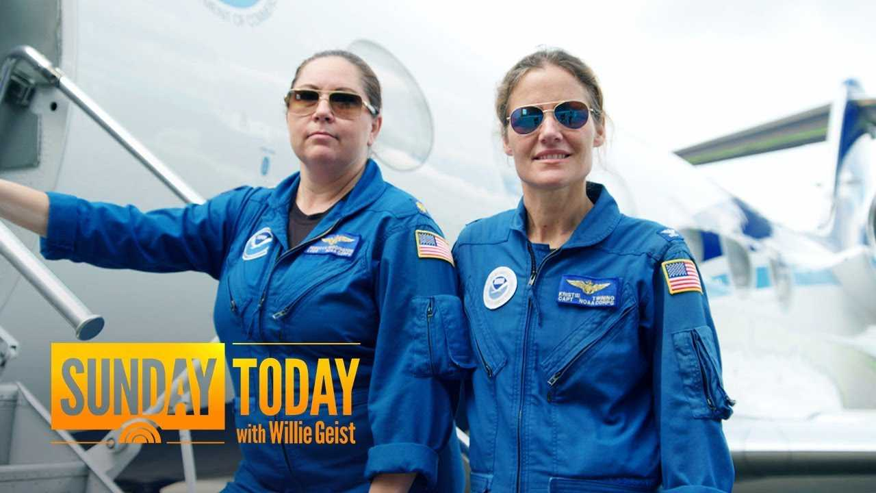 Meet The 2 Hurricane Hunters Making History In The Skies | Sunday TODAY