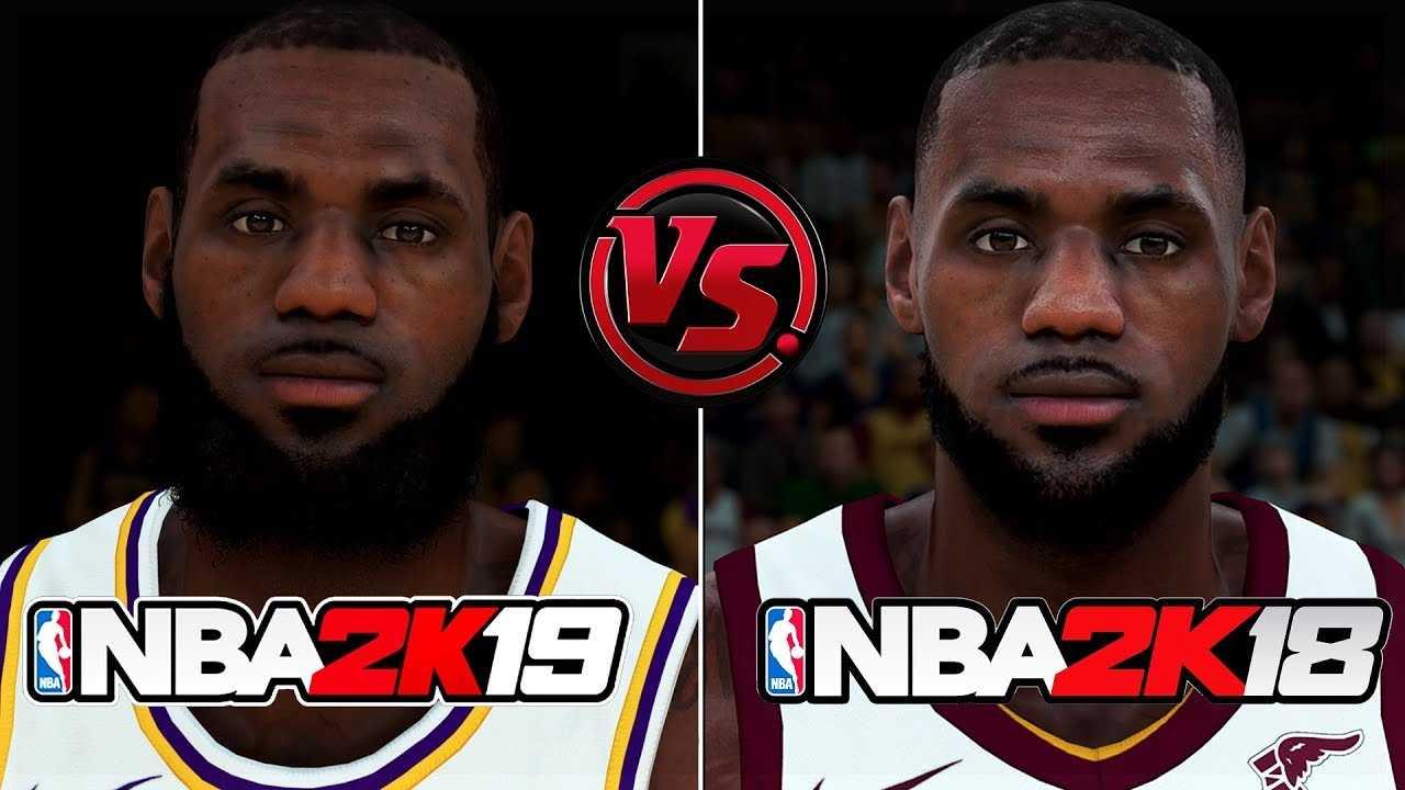 NBA 2K19 vs NBA 2K18 FACE/RATINGS COMPARISON