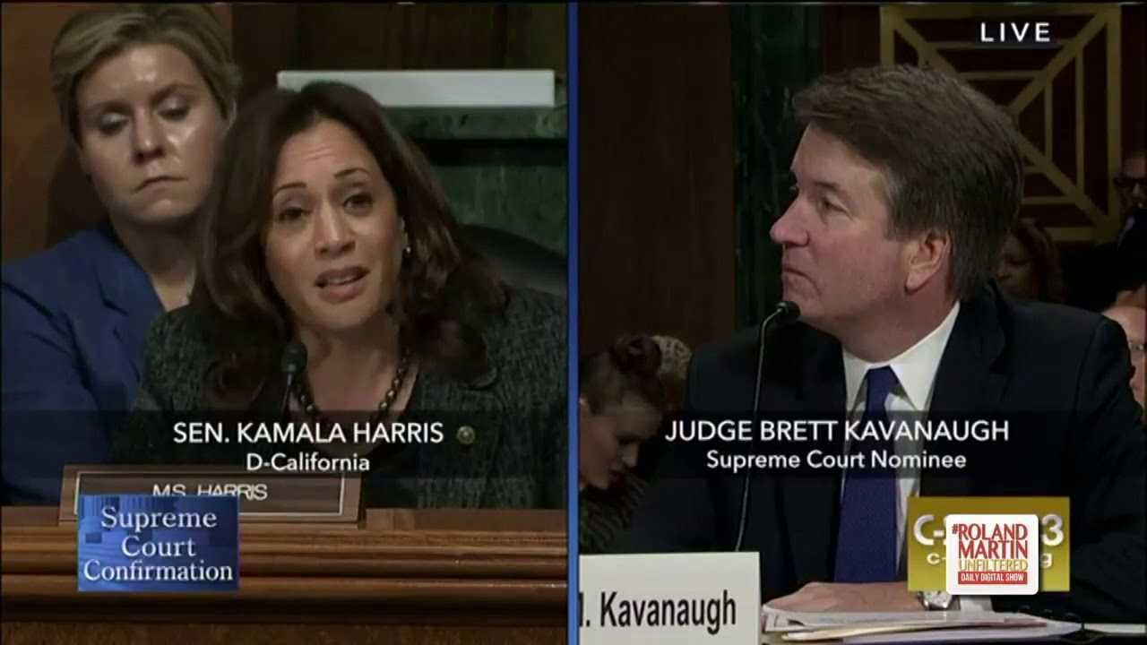 Political Hit? Kamala Harris Asks Kavanaugh Why He Accused Dems Of A Smear Campaign