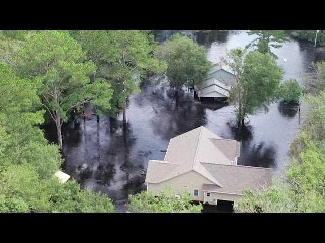 Pollocksville still underwater, Wilmington now dry
