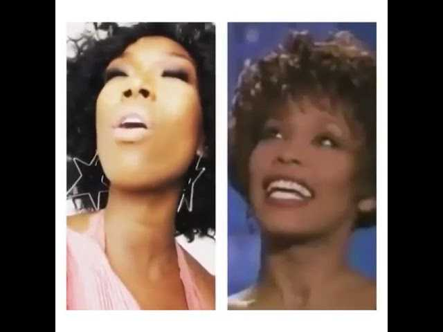 R&B singer Brandy Norwood miss Singer Whitney Houston tributetribute