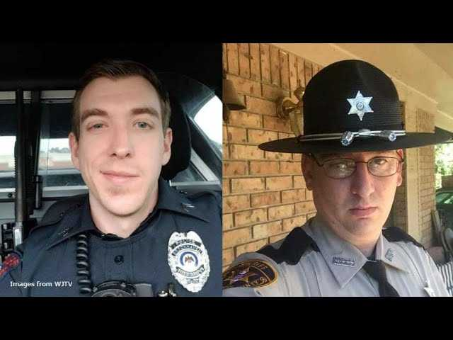 Scene video and news conference after 2 officers killed