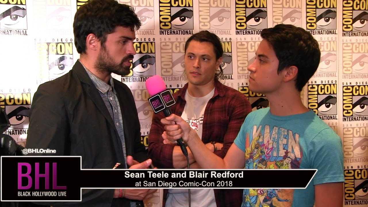 Sean Teele and Blair Redford (The Gifted) | San Diego Comic-Con 2018