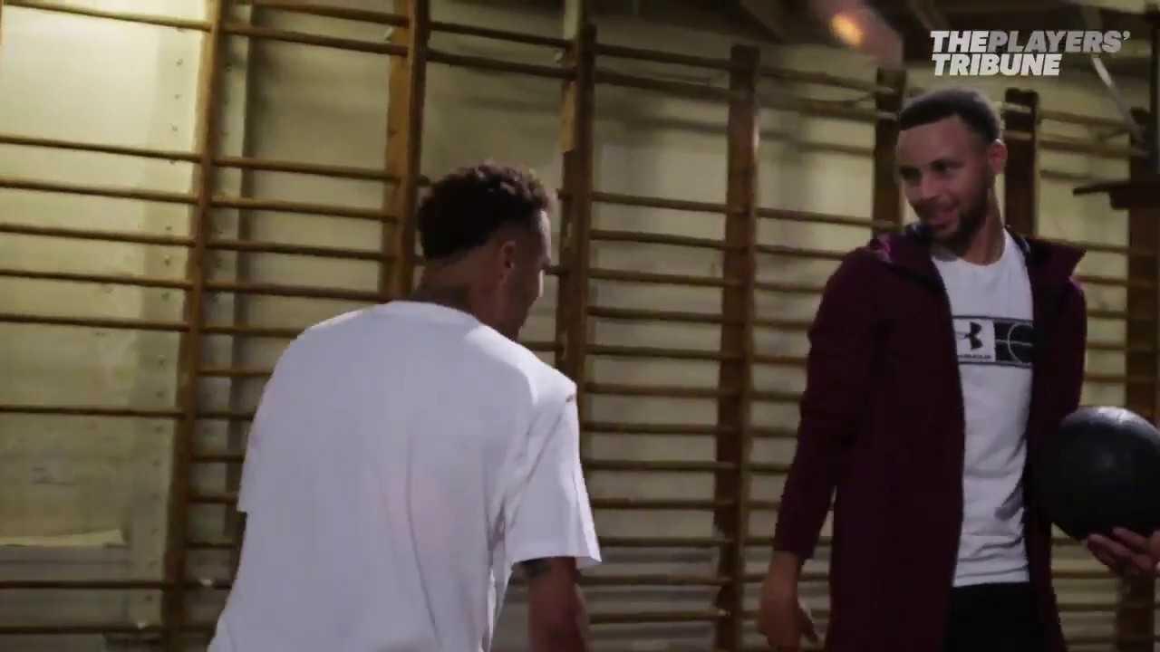 ️Steph Curry teaches Neymar Jr how to do a crossover