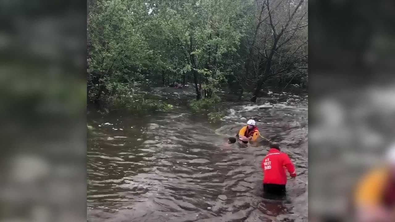 Warsaw Fire Department assists in swift water rescue