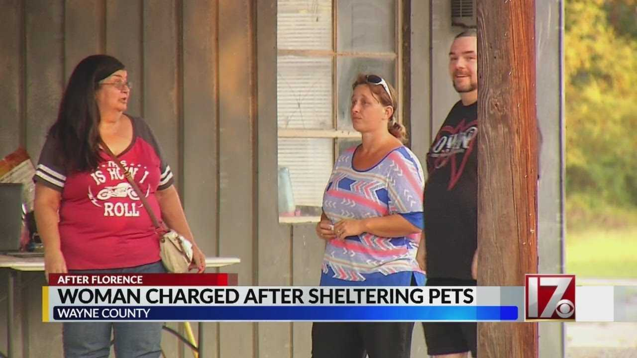 Wayne County woman faces 13 charges after sheltering pets during Florence