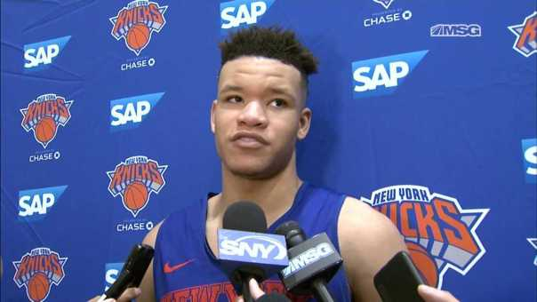 What Did Kevin Knox Think of His First Knicks Training Camp Practice?