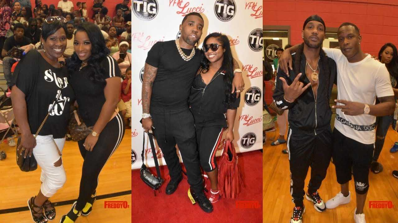 YFN Lucci and Reginae Carter Host Back To School Drive