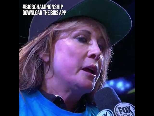 Big 3 Nancy Lieberman Post Championship Interview