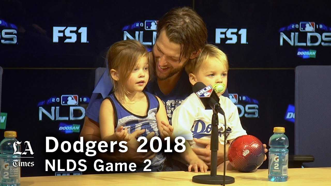 Dodgres NLDS 2018: Clayton Kershaw, and his kids, talk about his NLDS Game 2 win
