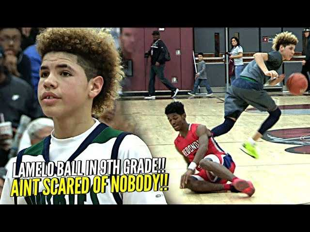 LaMelo Ball In 9th Grade!! ONLY 13 Years Old & Wasn't SCARED OF NOBODY!!! The Baby Faced Assassin!
