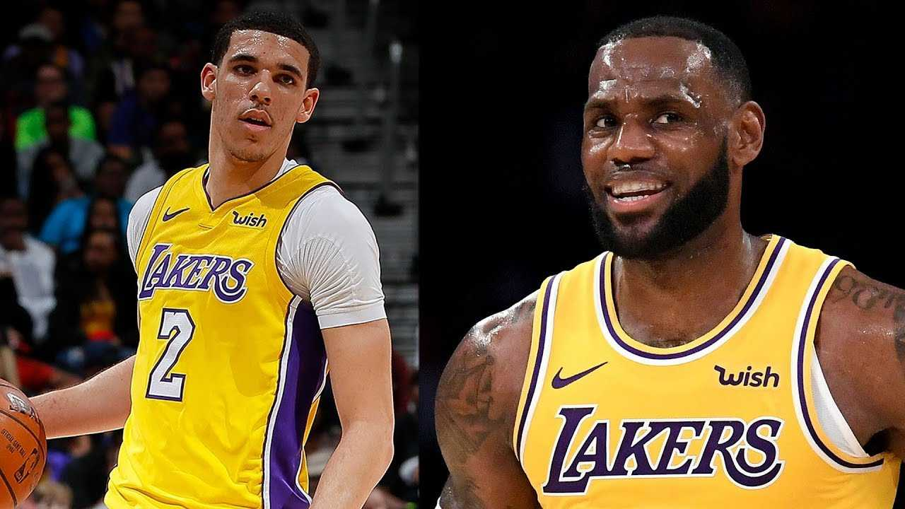 3039e78fbdc LeBron James Shows MAJOR LOVE For Lonzo Ball Hitting The Court Against The  Golden State Warriors! - Getmybuzzup