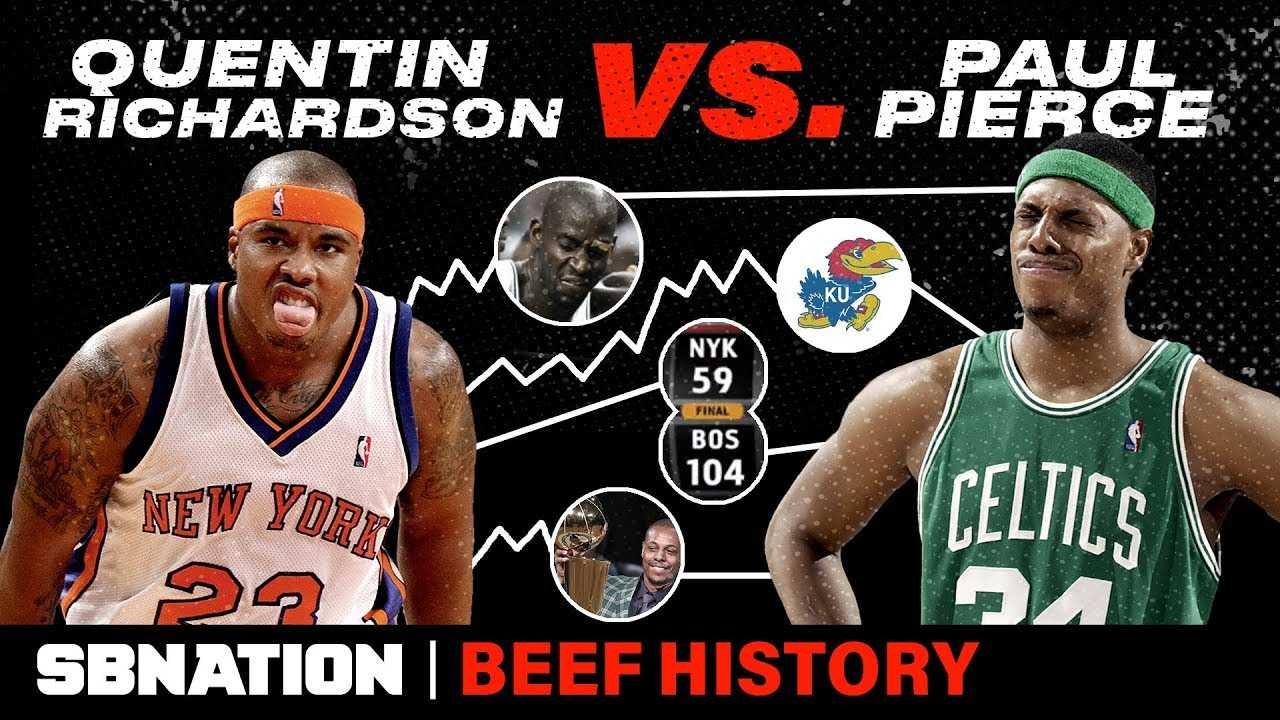 Quentin Richardson vs. Paul Pierce was a confusing, embarrassingly one-sided NBA feud | Beef History