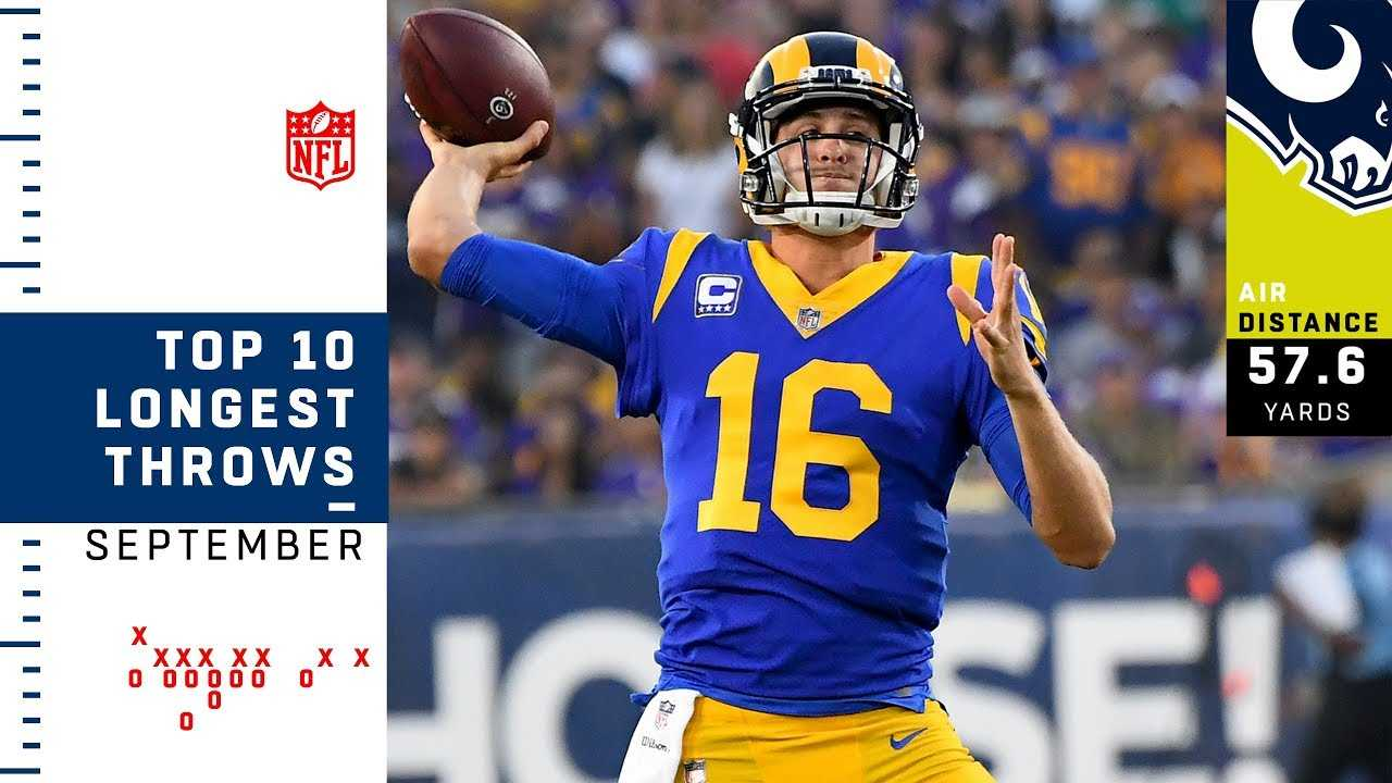 Top 10 Longest Throws By Air Distance of September   NFL Highlights