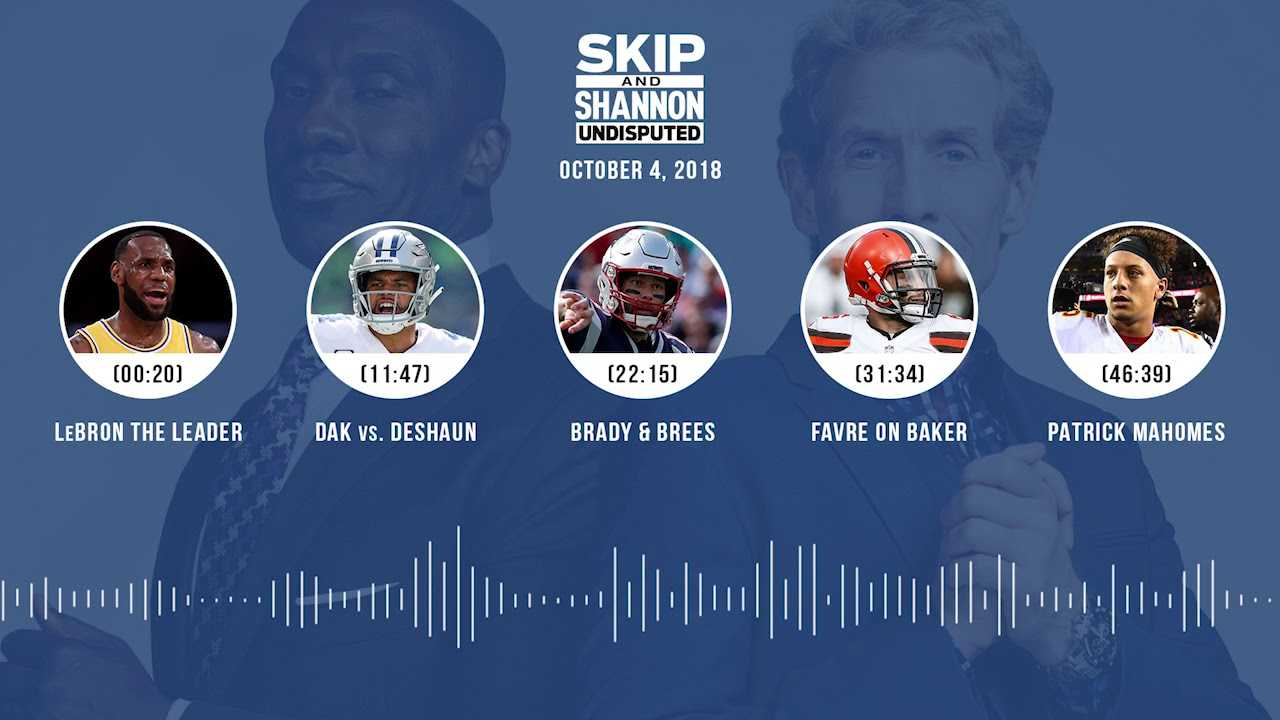UNDISPUTED Audio Podcast (10.04.18) with Skip Bayless, Shannon Sharpe & Jenny Taft | UNDISPUTED