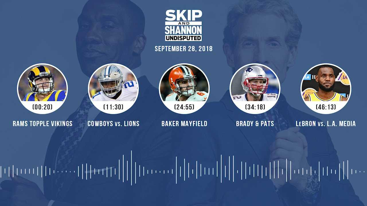 UNDISPUTED Audio Podcast (9.28.18) with Skip Bayless, Shannon Sharpe & Jenny Taft | UNDISPUTED