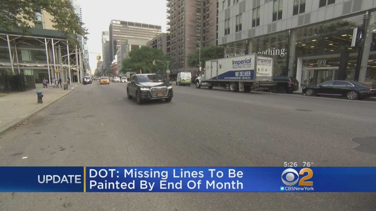 Update: City To Repaint Missing Double Yellow Lines