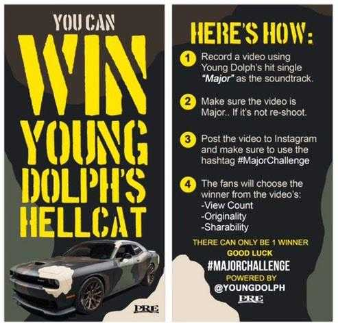 🆓🚗 You Can Win Young Dolph's Hellcat 🐬🚨 #MajorChallenge [Contest]