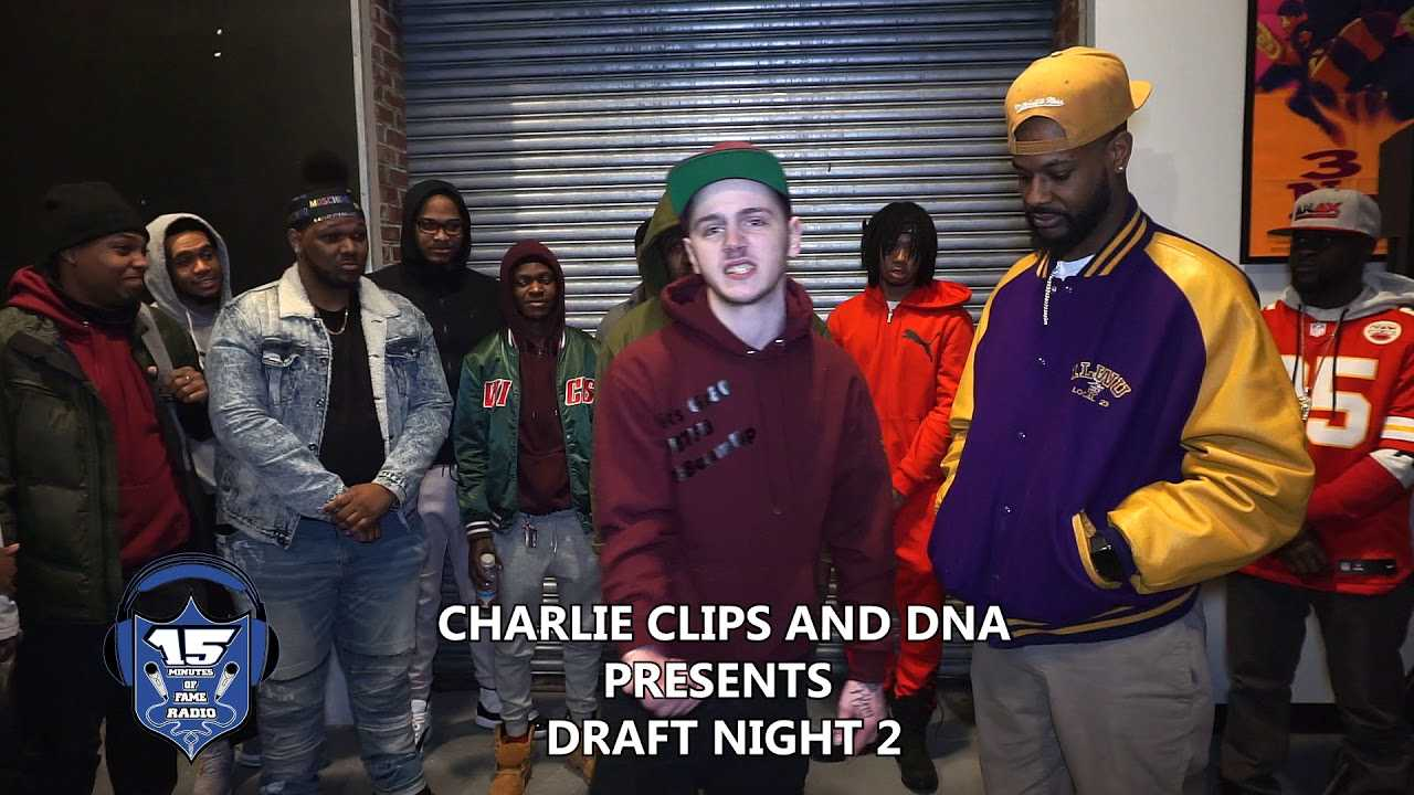 CHARLIE CLIPS AND DNA DRAFT NIGHT E G OFFICIAL VS GR80