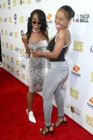 """Buku Abi and Drea Kelly attend WE tv's """"Power, Influence & Hip Hop: The Remarkable Rise Of So So Def"""" and Season 3 of """"Growing Up Hip Hop Atlanta"""" celebration at The London West Hollywood on July 16, 2019 in West Hollywood, California."""