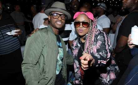 """Larenz Tate and Da Brat at the afterparty of WE tv's """"Power, Influence & Hip Hop: The Remarkable Rise Of So So Def"""" and Season 3 of """"Growing Up Hip Hop Atlanta"""" celebration at The London West Hollywood on July 16, 2019 in West Hollywood, California."""