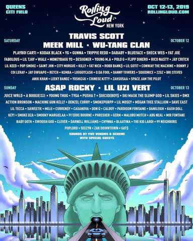 🗽 Rolling Loud New York Reveals Lineup, With Travis Scott, A$AP Rocky, and Wu-Tang Clan as Headliners 🗽 [Music News]