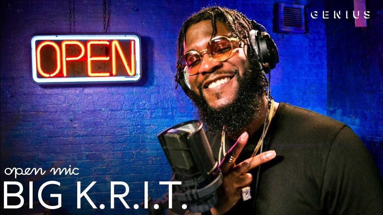 "Big K.R.I.T. ""K.R.I.T. HERE"" (Live Performance)   Open Mic"