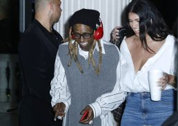 """MIAMI, FLORIDA - FEBRUARY 01: Lil Wayne and La'Tecia Thomas attend Lil Wayne's """"Funeral"""" album release party on February 01, 2020 in Miami, Florida (Photo by Jeff Schear/Getty Images for Young Money/Republic Records)"""