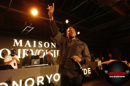 Multi-platinum rapper and entrepreneur Pusha-T partners with Courvoisier Cognac and performs during Maison Courvoisier on Saturday, February 15, 2020. Maison Courvoisier is an immersive luxury experience that pays homage to the brands Chateau in France and showcases the power of shared success by partnering with talent at the top of their game to spotlight their favorite artists in the areas of fashion and art. (Photo by Jeff Schear/Getty Images for Courvoisier Cognac)