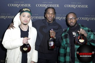 Multi-platinum rapper and entrepreneur Pusha-T, fashion designer Rhuigi Villaseñor and visual artist, Al-Baseer Holly (ABH) attend Maison Courvoisier on Saturday, February 15, 2020. Highlighting the achievements and creativity of artists with whom he has a personal connection, Pusha-T hand-selected the artisans to showcase their work at Maison Courvoisier and celebrate the power of shared success.