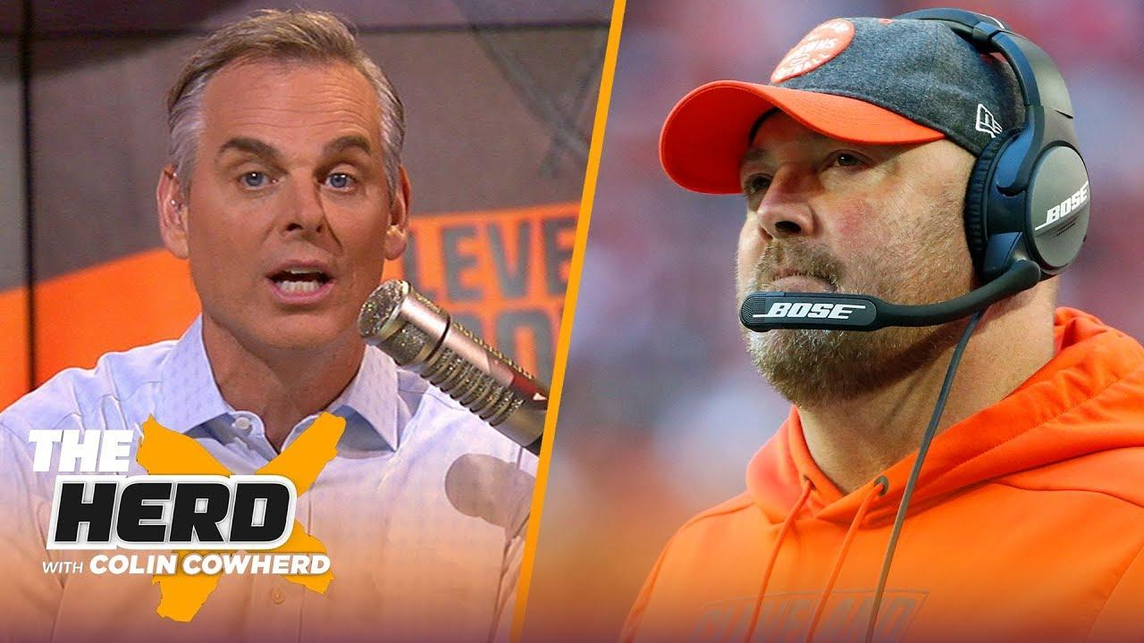 Colin reacts to Browns firing Freddie Kitchens, 49ers proved they're best in NFC | NFL | THE HERD