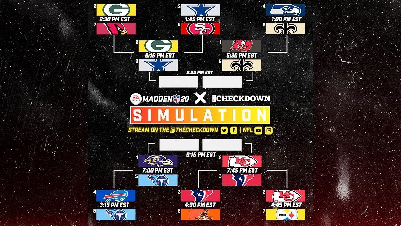 Madden 2020 Season Simulation Playoff Marathon!