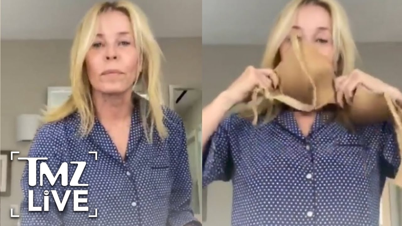 Chelsea Handler Turns Her Bra Into a Face Mask in DIY Tutorial | TMZ Live
