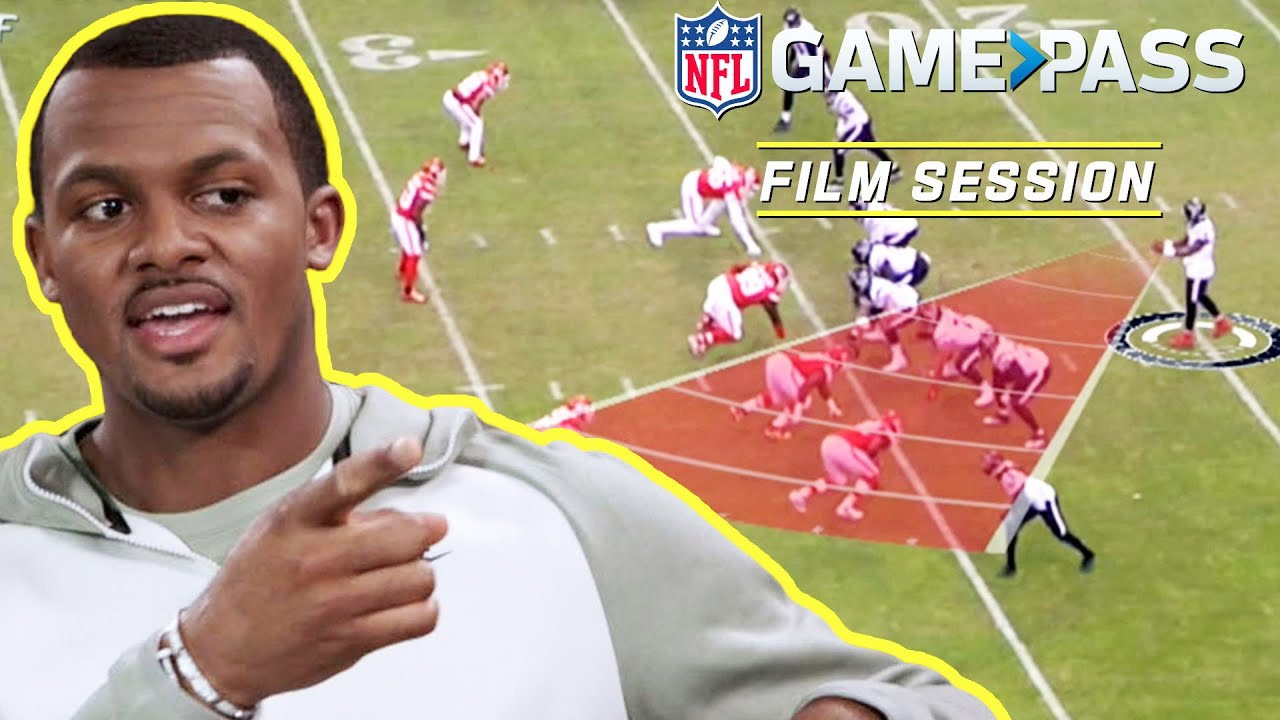 Deshaun Watson Breaks Down Reading Naked Routes, Red Zone Plays, & More   NFL Film Session