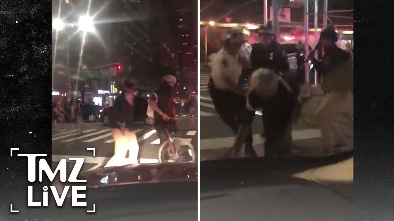 NYPD Cops Violently Strike Man with Batons After Curfew   TMZ Live