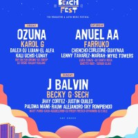 Baja Beach Fest 2021 Announces Anuel AA, J Balvin, Ozuna as Headliners