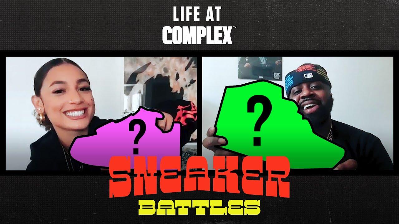 DaniLeigh vs Smoke DZA in a SpicySneakerBattle| #LIFEATCOMPLEX