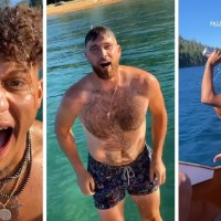 PATRICK MAHOMES & TRAVIS KELCE BOAT PARTY IN TAHOE, GFS TWERK & CHUG BEER!!!