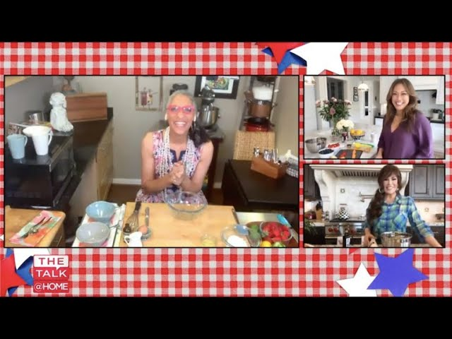 The Talk - 'Food for the 4th': Carla Hall Cooks Mixed Berry Shortcake Mug Cake