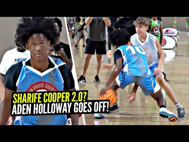 15 Year Old Aden Holloway Has That Sharife Cooper 2.0 Type Game!! Jaylen Curry vs Aden Holloway!