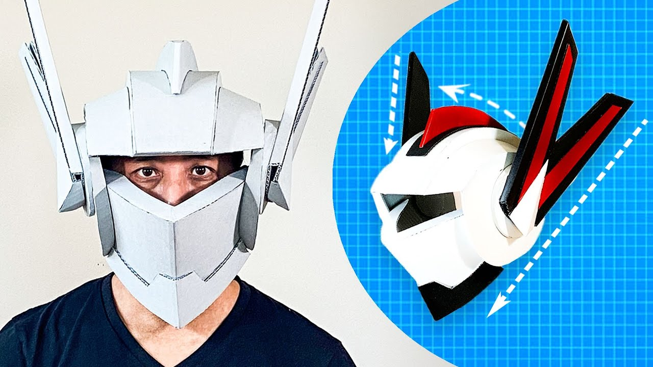 How to Build a Cardboard Robot Helmet   WIRED
