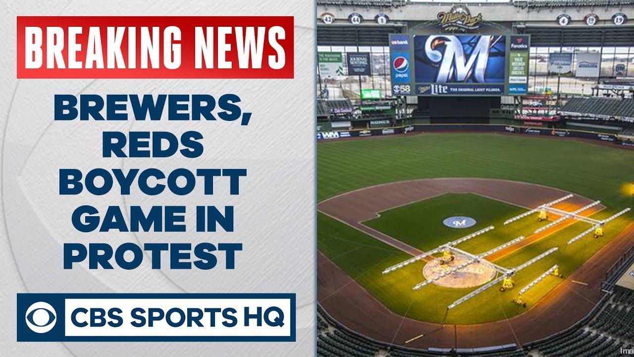Milwaukee Brewers, Cincinnati Reds boycott Wednesday's game in protest | CBS Sports HQ