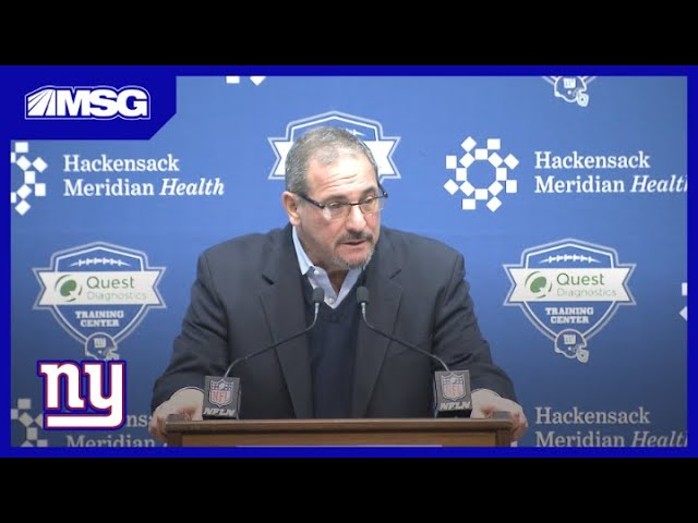Press Conference: Gettleman Addresses Pat Shurmur Firing and Giants Future