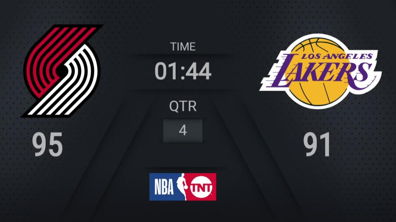 Trail Blazers @ Lakers | NBA on TNT Live Scoreboard | #WholeNewGame