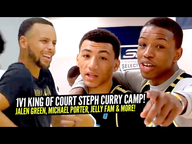 1v1 King of The Court Steph Curry Camp: Jalen Green, JellyFam, Dennis Smith, Etc. WHO WAS THE BEST?